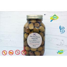 Olives vertes farcie aux piment doux